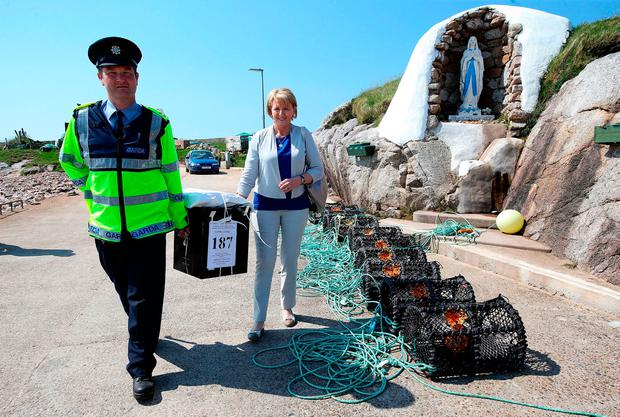The ballot box arrives on Gola Island, Co Donegal. Photo: Brian Lawless/PA Wire