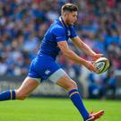 Ross Byrne leads the way in league appearances for Leinster this season. Photo: Brendan Moran/Sportsfile