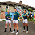 Limerick's Cian Lynch, Gearoid McInerney of Galway and Wexford's Lee Chin during the Centra hurling launch in Glasnevin, Dublin. Photo: Sportsfile
