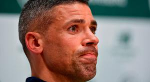 Jonathan Walters during a Republic of Ireland press conference at the FAI National Training Centre in Abbotstown, Dublin. Photo by Seb Daly/Sportsfile