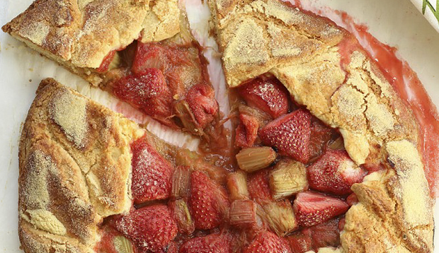 Rhubarb and Strawberry Galette
