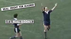 Des Kennedy celebrates scoring the goal that put Limerick in front against the mighty Real Madrid