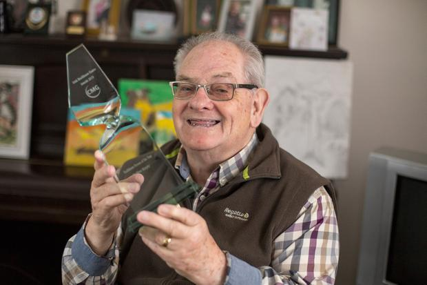 Oliver Murphy with his Person of the Year award. Photo: Mark Condren