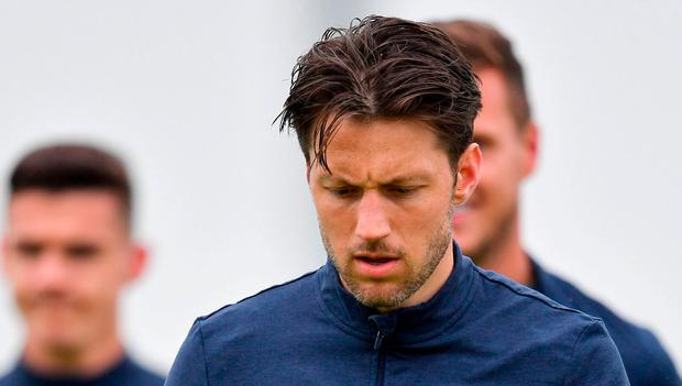 Harry Arter during a Republic of Ireland squad training session at the FAI National Training Centre in Abbotstown, Dublin. Photo by Seb Daly/Sportsfile