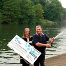 Married couple Donna and David Stickley from Slough celebrates their £21 million Lotto win in Windsor, Berkshire. Photo: Steve Parsons/PA Wire