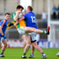 13 May 2018; Jamie Snell of Wicklow in action against Conor Carroll of Offaly during the Leinster GAA Football Senior Championship Preliminary Round match between Offaly and Wicklow at O'Moore Park in Laois. Photo by Harry Murphy/Sportsfile