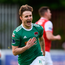 25 May 2018; Kieran Sadlier of Cork City celebrates after scoring his side's first goal during the SSE Airtricity League Premier Division match between St Patrick's Athletic and Cork City at Richmond Park in Dublin. Photo by David Fitzgerald/Sportsfile