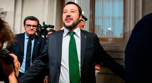 Matteo Salvini, leader of the anti-immigrant party League.