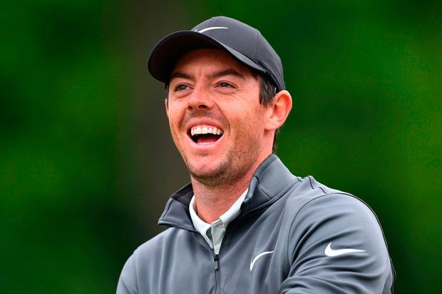 DAZZLING: Rory McIlroy has surged into the lead at Wentworth. Pic: Getty Images