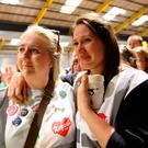 Repeal supporters at Dublin's RDS wait for the start of the count in the referendum on the 8th Amendment of the Irish Constitution which prohibits abortions unless a mother's life is in danger: Brian Lawless/PA Wire