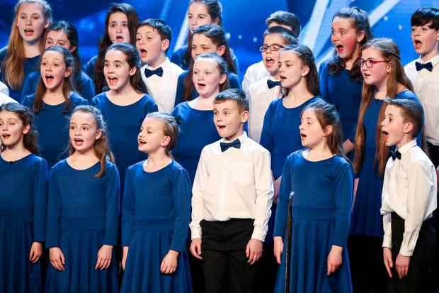 St Lawrence's primary school choir on Britain's Got Talent, TV3