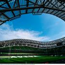 A general view of the Aviva Stadium prior to the Guinness PRO14 Final between Leinster and Scarlets at the Aviva Stadium in Dublin. Photo by David Fitzgerald/Sportsfile