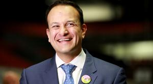 Taoiseach Leo Varadkar pictured at the Dublin County Count Centre in Citywest Photo: Frank Mc Grath