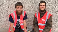 (L-R) Patrick and Josiah Lauser have said they may leave Ireland unless the people they claim 'rigged' the referendum 'get caught'