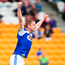 Paul Kingston of Laois celebrates after scoring the first goal