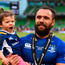 Isa Nacewa of Leinster with his daughter Laura following the Guinness PRO14 Final between Leinster and Scarlets at the Aviva Stadium in Dublin