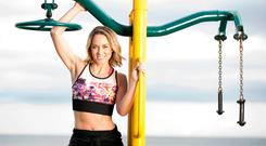 WORKOUT MUM: Kathryn Thomas shapes up for summer. Picture: David Conachy