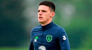 Declan Rice is ignoring David Gold's comments. Photo: Seb Daly/Sportsfile