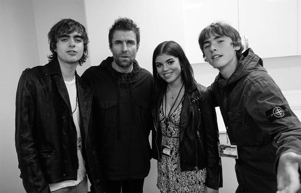 Liam Gallagher posted this picture last week of himself with his 21-year-old daughter, Molly Moorish, along with his two sons, Lennon and Gene.