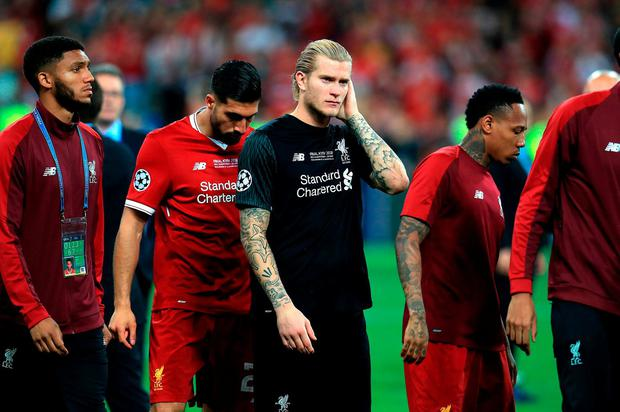 Liverpool keeper Loris Karius was destraught after the Champions League final. Photo: Mike Egerton/PA Wire