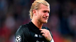 Loris Karius was dejected following Liverpool's Champions League final defeat