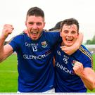 Robbie Smyth, left, and Rian Brady of Longford celebrate