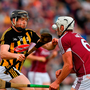 Walter Walsh of Kilkenny in action against Gearóid McInerney of Galway