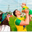 Paddy McGrath of Donegal with his wife Stephanie and his three month old daughter, Isla Rose