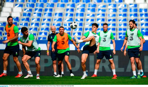 Callum O'Dowda during Republic of Ireland training at Stade de France in Paris, France. Photo by Stephen McCarthy/Sportsfile