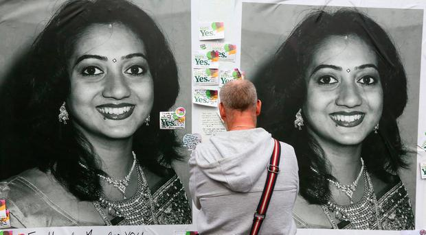 The Savita Halappanavar memorial at South Richmond St in Dublin. Photo: Colin O'Riordan