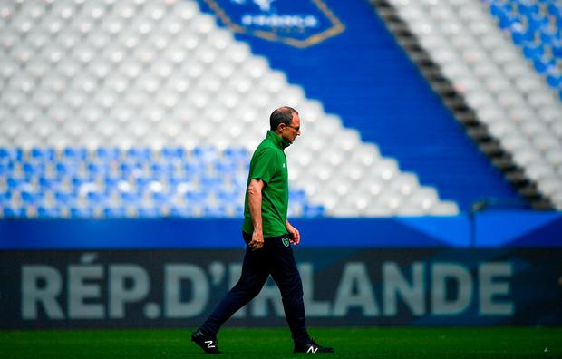 CHALLENGE: Ireland boss Martin O'Neill will pick an experimental team to face France tonight. Photo: Stephen McCarthy/Sportsfile