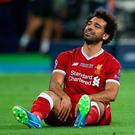 "Salah: ""It was a very tough night, but I'm a fighter."" Photo: Reuters"