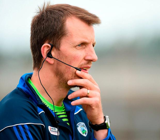Laois manager John Sugrue. Photo by Matt Browne/Sportsfile