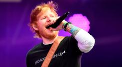 Sheeran insisted his 'strong' approach would 'be very positive for fans in the long run'. Photo: PA