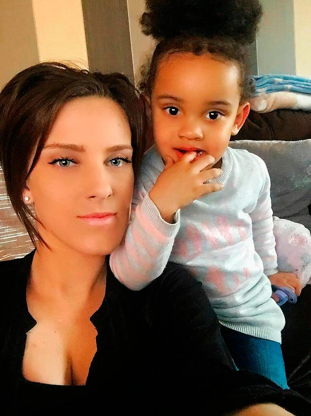 Undated handout photo issued by Metropolitan Police of Krystal Gibbs, 25, her daughter Sienna as police are
