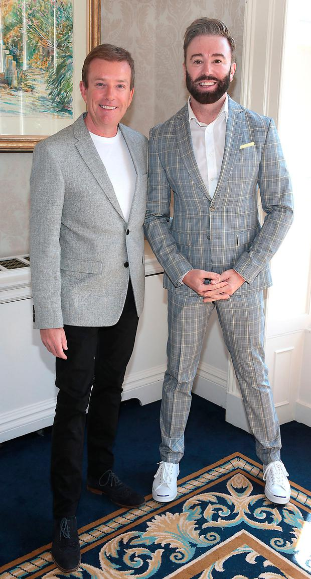 Alan Hughes and Karl Broderick at the annual CARI charity Summer Lunch at The Shelbourne Hotel, Dublin. Picture: Brian McEvoy