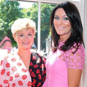 Cecelia Ahern and sister Georgina Byrne at the annual CARI charity Summer Lunch at The Shelbourne Hotel, Dublin. Picture: Brian McEvoy