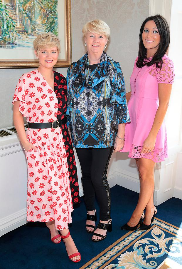 Cecelia Ahern, Miriam Ahern and Georgina Byrne at the annual CARI charity Summer Lunch at The Shelbourne Hotel, Dublin. Picture: Brian McEvoy