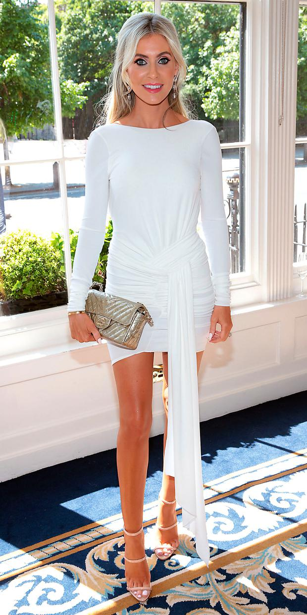 Claudine Keane at the annual CARI charity Summer Lunch at The Shelbourne Hotel, Dublin. Picture: Brian McEvoy