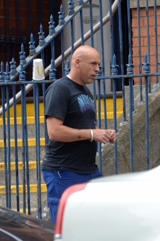 Keith Kelly pictured outside Mountjoy prison