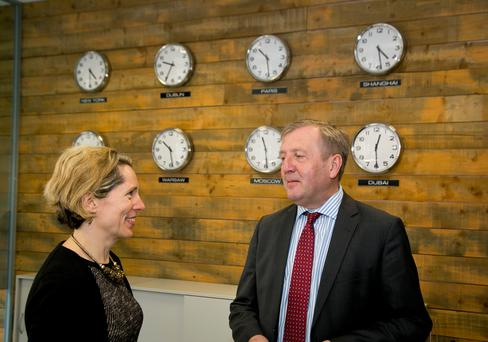 Tara McCarthy and the Minister for Agriculture Michael Creed.