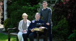Arrabawn Co-Op Milk Supplier of the Year John Woods, Ballywilliam with his son Pat and wife Anne.
