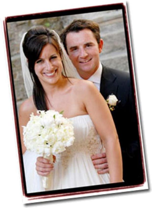 Lucy Kennedy and her husband Richard Governey on their wedding day.