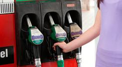 On the way up: Prices at the petrol and diesel pumps
