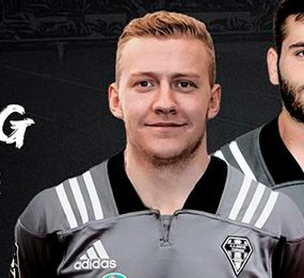 Stuart Olding pictured in his Brive jersey