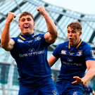 Two of Leinster's starlets, Jordan Larmour and Garry Ringrose, are sure to figure prominently for Ireland in Australia. Photo: Sportsfile