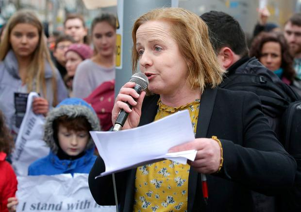 Ruth Coppinger hailed a 'noisy battle cry' for repeal of Eighth. Photo: Damien Eagers