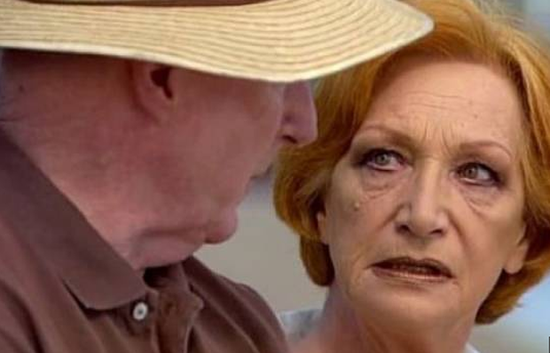 Cornelia Frances with Ray Meagher