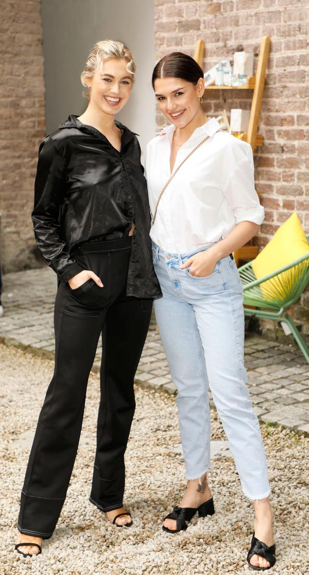 Caoimhe O'Dwyer and Kelly Horrigan at the Marks & Spencer Taste of Summer event held in The WHPR Courtyard. Picture: Kieran Harnett