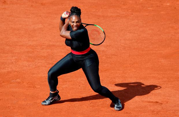 Tennis - French Open - Roland Garros, Paris, France - May 29, 2018 Serena Williams of the U.S in action during her first round match against Czech Republic's Kristyna Pliskova REUTERS/Christian Hartmann TPX IMAGES OF THE DAY